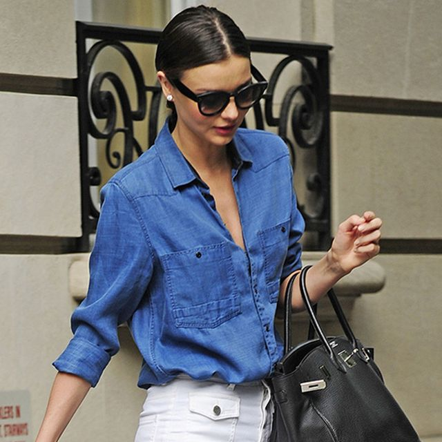The Denim-On-Denim Trend Has Never Looked So Polished