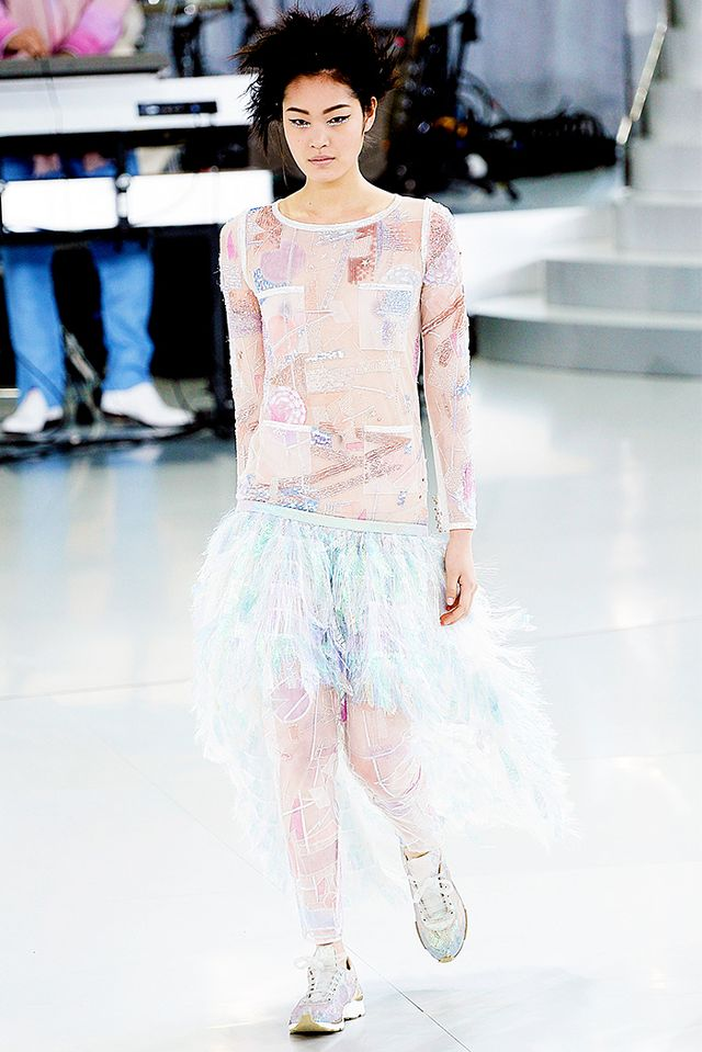1. The trends trickle down into ready-to-wear.