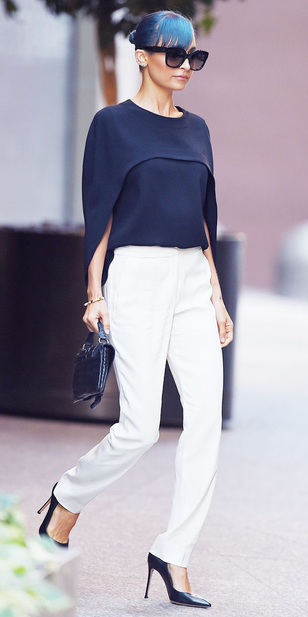 Nicole Richie Makes A Stylish Case For The Cape Top