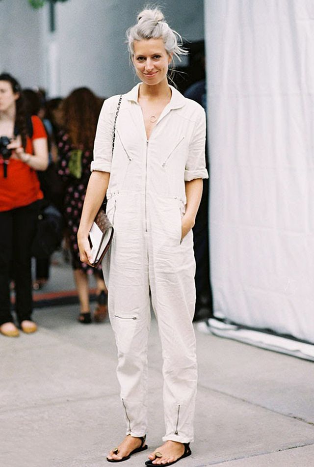 Linen Jumpsuit + Flat Sandals