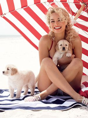 Margot Robbie Cuddles The Cutest Puppies On Earth