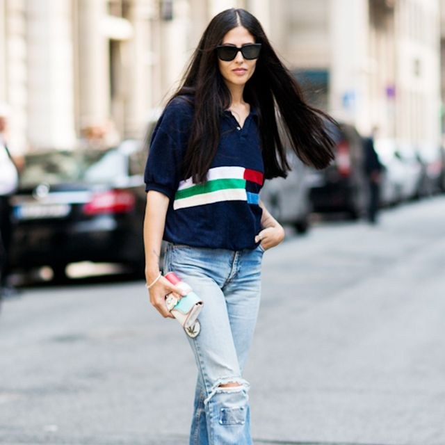 Tip of the Day: Give Your Flare Jeans a Preppy Twist
