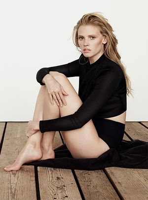 Lara Stone For Net-A-Porter's The Edit