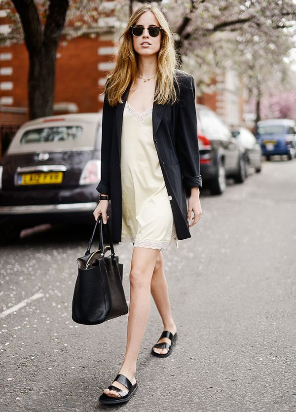 Blazer + Slip Dress