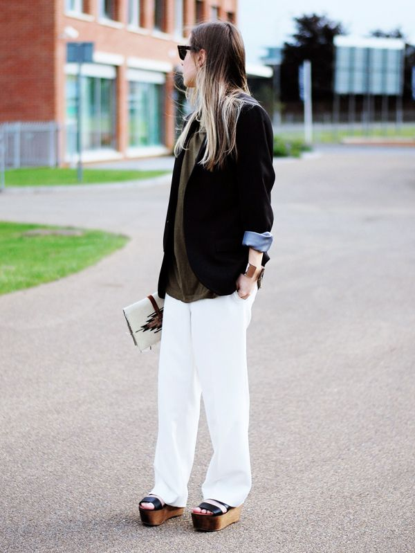 Blazer + Simple T-Shirt
