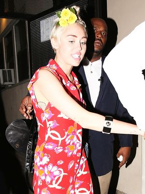 Miley Cyrus Makes A Case For All Things Floral