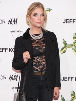 Try Ashley Benson's Peek-A-Boo Lace Look For Your Next GNO