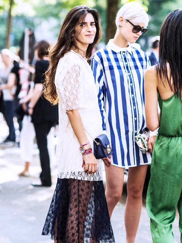Carry it with: Lace dress + friendship bracelets