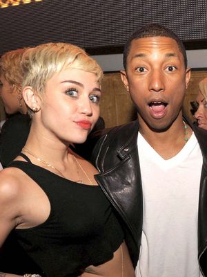 Miley Cyrus Crashes Pharrell's New Music Video