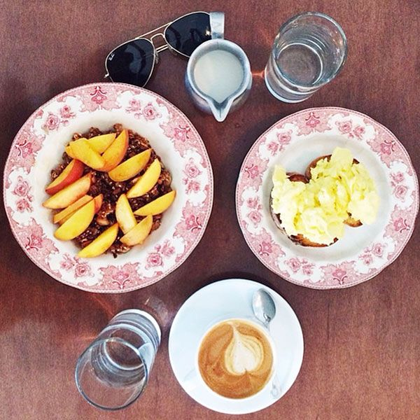 6. You take highly structured photos of every meal you eat, and throw in a pair of sunglasses for good measure.