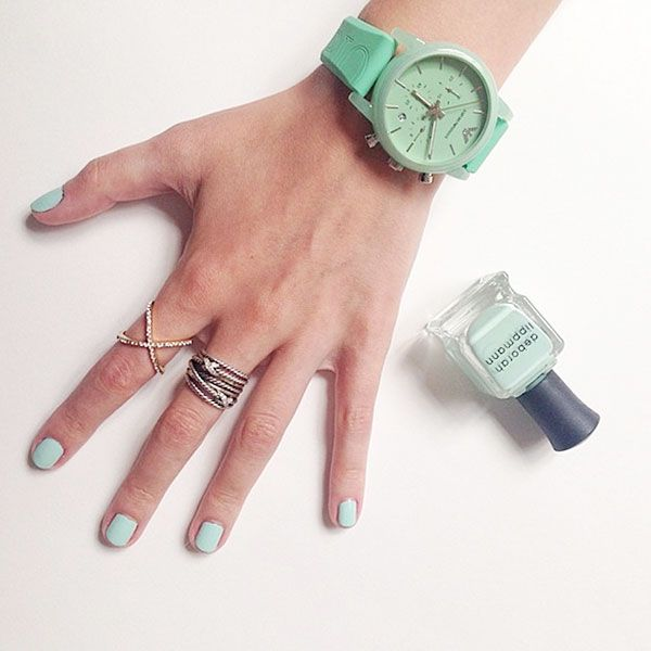 16. You try very hard to match your nails to your outfit.