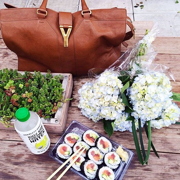 18. Meals and outfits have one major thing in common: they're better with designer bags.