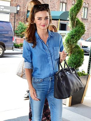 Miranda Kerr's Secret To Dressing Up A Casual Look