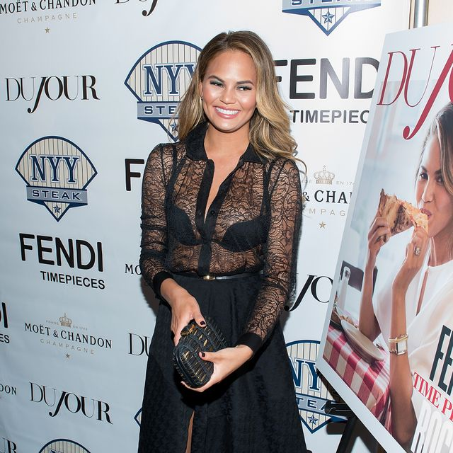 Chrissy Teigen Wore A Completely Sheer Top--Why We Love It