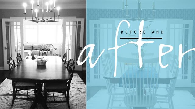 Before & After: New-Deco Dining Room