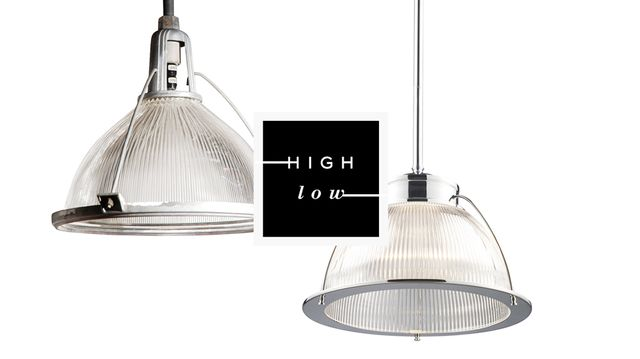 High Low: Holophane Pendant Lamps