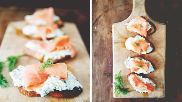 Recipe of the Week: <br>Ricotta Salmon Crostini<br/>
