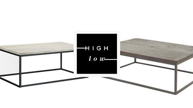 High Low Box Frame Coffee Table Mydomaine Au