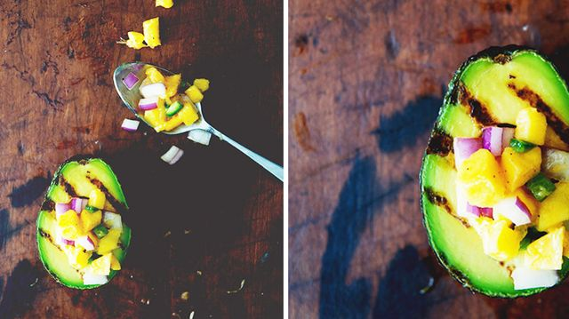 Recipe of the Week: Grilled Avocado With Mango Salsa