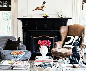 Get Inspired: Black Fireplaces and How to Style Them