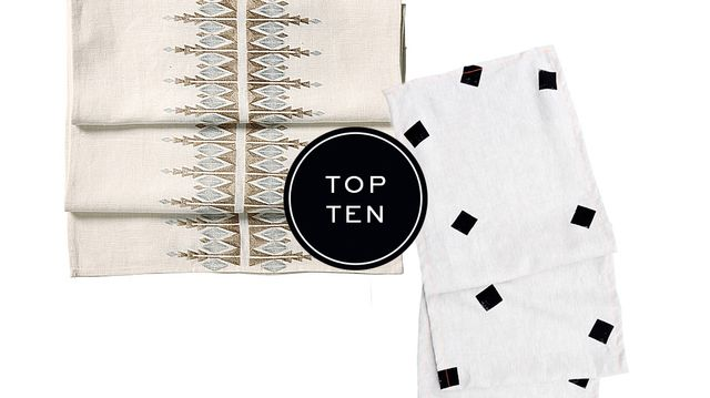 Top 10: Table Runners