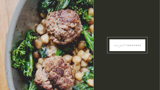 Recipe of the Week: One-Pot Couscous with Lamb Meatballs, Chickpeas, and Kale