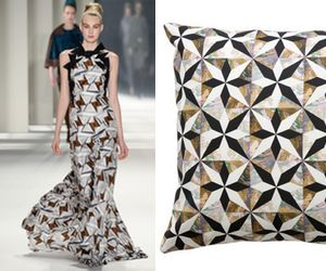 Runway to Room: Carolina Herrera and Carley Kahn's Marbleized Motifs