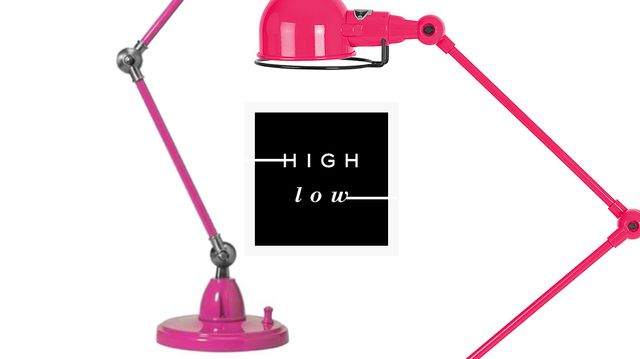 High Low: Pink Task Lamps