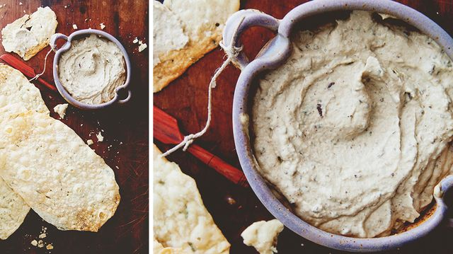 The Star of Your Next Party: Roasted Garlic and Eggplant Puree with Olive Oil Crackers