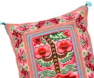 A Mexi-Mod Needlepoint Pillow