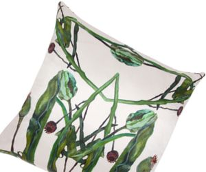 Floral Fun on a Silk Pillow