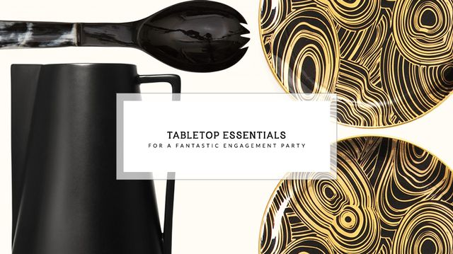 15 Tabletop Essentials for a Fantastic Engagement Party