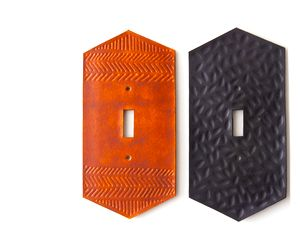 A Must-Have Leather Light Switch Plate
