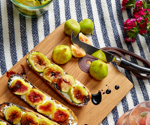 Recipe: Mission Figs, Lavender Goat Cheese and Aged Balsamic on ...