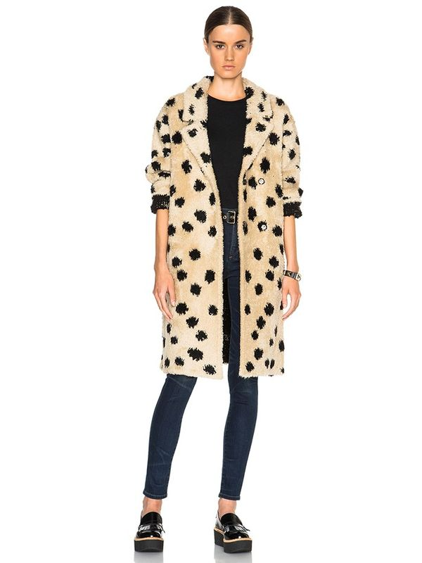 Thakoon Ocelot Coat in Beige & Black
